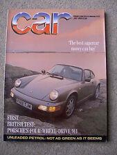 Car (July 1989) Corrado 16v v Nissan 200SX, Toyota Celica GT, Honda Prelude, 911