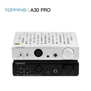 TOPPING A30 PRO NFCA 4 pin XLR/4.4mm/6.35mm Output Balanced/RCA Input Amplifier