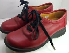 Murtosa Red Leather Sneakers 🇵🇹 Made in Portugal Size 37 Us 7 Uk5