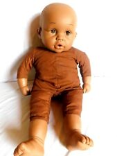 "Vintage Black Baby Doll Rolling Eyes 18"" squeeze belly makes noise"