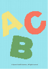 Crochet Patterns - ABC'S  Color Graph Chart BABY Afghan Pattern *BEGINNER