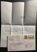 1949 Halifax Canada Return To Sender Registered Cover To Dartmouth W Letter