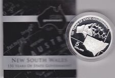 BOXED 2006 AUSTRALIA SILVER PROOF 5 DOLLAR NEW SOUTH WALES
