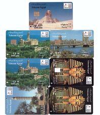 7 SCHEDE TEST CARDS PHONE TELEFONKARTE TELECOM EGYPT