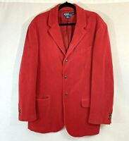 Vintage POLO Ralph Lauren Red Men's Corduroy Sport Coat Blazer - Size XL