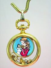 Pendant Ladies Watch Doll Collecting Girl & Doll Gold-tone Monet Chain