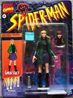 "Marvel Legends Vintage Retro 6"" Figure Gwen Stacy w/ Mary Jane Alternate Head"
