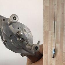 Vintage Hurd Super Caster Rod & Reel Combo Walnut Handles 1940s Art Moderne