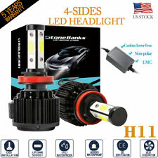 4-Sides H11 H9 H8 Canbus Error Free Led Headlight Fog Driving Light Bulbs 6000K
