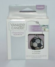 NEW YANKEE CANDLE CHARMING SCENTS SOCCER BALL CHARM METAL BANGLE CAR ACCESSORY