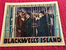 Blackwell's Island 1939 Warner Brothers linen crime lobby card John Garfield Vic