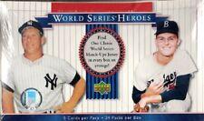 (1) 2002 Upper Deck World Series Heroes Baseball Factory Sealed Hobby Box
