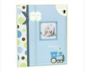 LIL PEACH Five Year TRAIN BABYBOOK Memory Baby Record Book Photo Journal - NEW