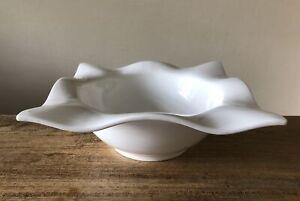 Große Designer Schale WELLE Weiß Porzellan von Impressionen NEU
