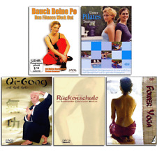 5 DVD Fitness Set - Bauch Beine Po Pilates Qi Gong Yoga und Rückenschule - Neu