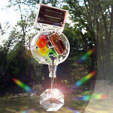Kikkerland Swarovski Crystal Rainbow Maker Hanging Solar Panel Powered Lighting
