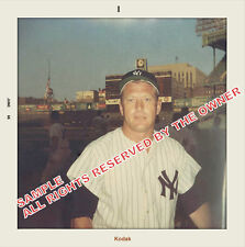 MICKEY MANTLE RARE FANS SNAPSHOT 1966 5 BY 5 ENLARGEMENT ONLY 2 AVAIL