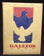 1944 Paris Junior College Yearbook Paris Texas The Galleon WWII Era Annual