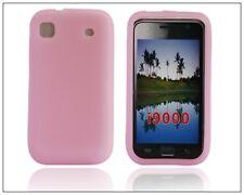 Samsung i9000 i9001 Galaxy S Plus - Housse silicone souple anti choc ROSE