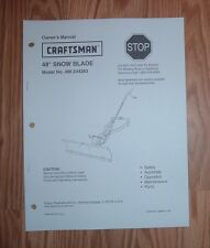 CRAFTSMAN 486.24483 48 IN SNOW BLADE OWNERS MANUAL WITH ILLUSTRATED PARTS LIST