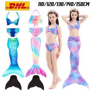 Mädchen Swimmable Kids Kostüm Meerjungfrau-Schwanz zum Schwimmen mit Monoflosse