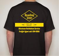 RDG -Reading Railroad Bee-Line Service T-Shirt  Medium-Ships Free CNJ CR Philly