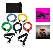 Resistance Bands Ecercise Kit For Exercise Arm Stretching Physical Therapy