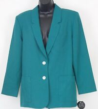 Requirements Petite Green Dress Jacket  Blazer Size 10 NWT