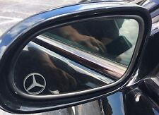MERCEDES Etched / Frosted Look Mirror Glass Decal Stickers ~ Set Of 2