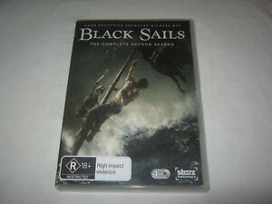 Black Sails - Complete Season 2 - 4 Disc Set - VGC - R4 - DVD