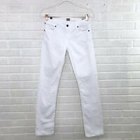 Citizens of Humanity Womens Size 26 Ava Jeans Straight Leg White Low Rise Cotton