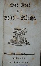Das Grab der Bettel-Mönche – Ulm 1781