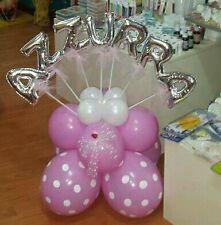 Palloncino battesimo nome base fai da te personalizzata palloncini pois/lettere