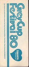 Toronto Grey Cup Festival 1980 Brochure 072617nonjhe