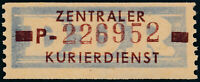 DDR-Dienst, B 20 P, Gera, tadellos postfrisch, Befund Dr. Ruscher, Mi. 150,-