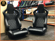 BB6 è sdraiato secchio sedili Sportivi Nero/Diamond Stitch ALACANTRA Universal