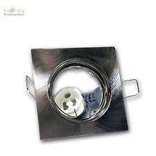 10x Lampada da incasso angolare orientabile GU10 230V satinato FARETTO GU 10