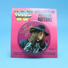 """Undertaker 2"""" Button Lapel Pin - Rare WWF Vintage Wrestling WWE 1994 Exclusive"""