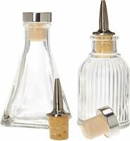 Bitters Bottles - Set of 2 | 90ml - Glass Cocktail Syrups, Shrub, Bitter Dropper