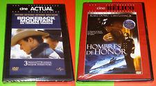 BROKEBACK MOUNTAIN + HOMBRES DE HONOR / MEN OF HONOR English Español DVD R2 Prec
