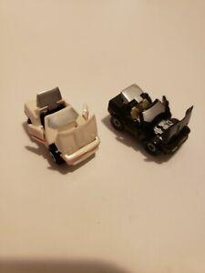 Micro Machines Chevy Corvette Deluxe White Black 1988 Galoob All Doors Open
