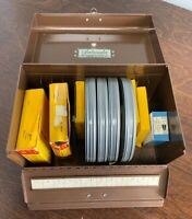Vintage Ambassador Argus Metal Box W/ 5 Kodachrome & 4 Kodascope Reels