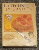 RARE VG#HC BOOK COOKBOOK:LA TECHNIQUE-JACQUES PEPIN ILLUSTRATED GUIDE OF COOKING