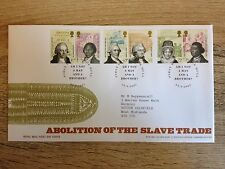 Abolition of the Slave Trade. Royal Mail Stamps. First Day Cover