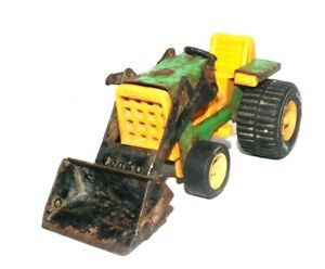 """TONKA PRESSED STEEL 1970's JOHN DEERE TRACTOR WITH FRONT END LOADER 6"""""""