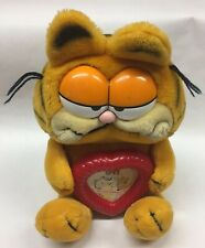 New ListingVintage Garfield Plush Stuffed Animal w/ Heart Picture Frame 1981 Dakin 1980's