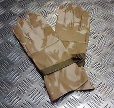 Genuine British Military Desert Camo Leather Combat Gloves - All Sizes - NEW
