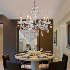 5 Candle traditional Crystal Pendant Chandelier for Living Room Dining Room