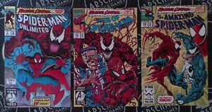 Maximum Carnage #1-14 Complete Set 1993 Marvel Spider-Man Venom Morbius Movie