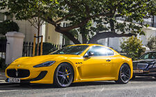 YELLOW MASERATI GRAN TURISMO NEW A1 CANVAS GICLEE ART PRINT POSTER